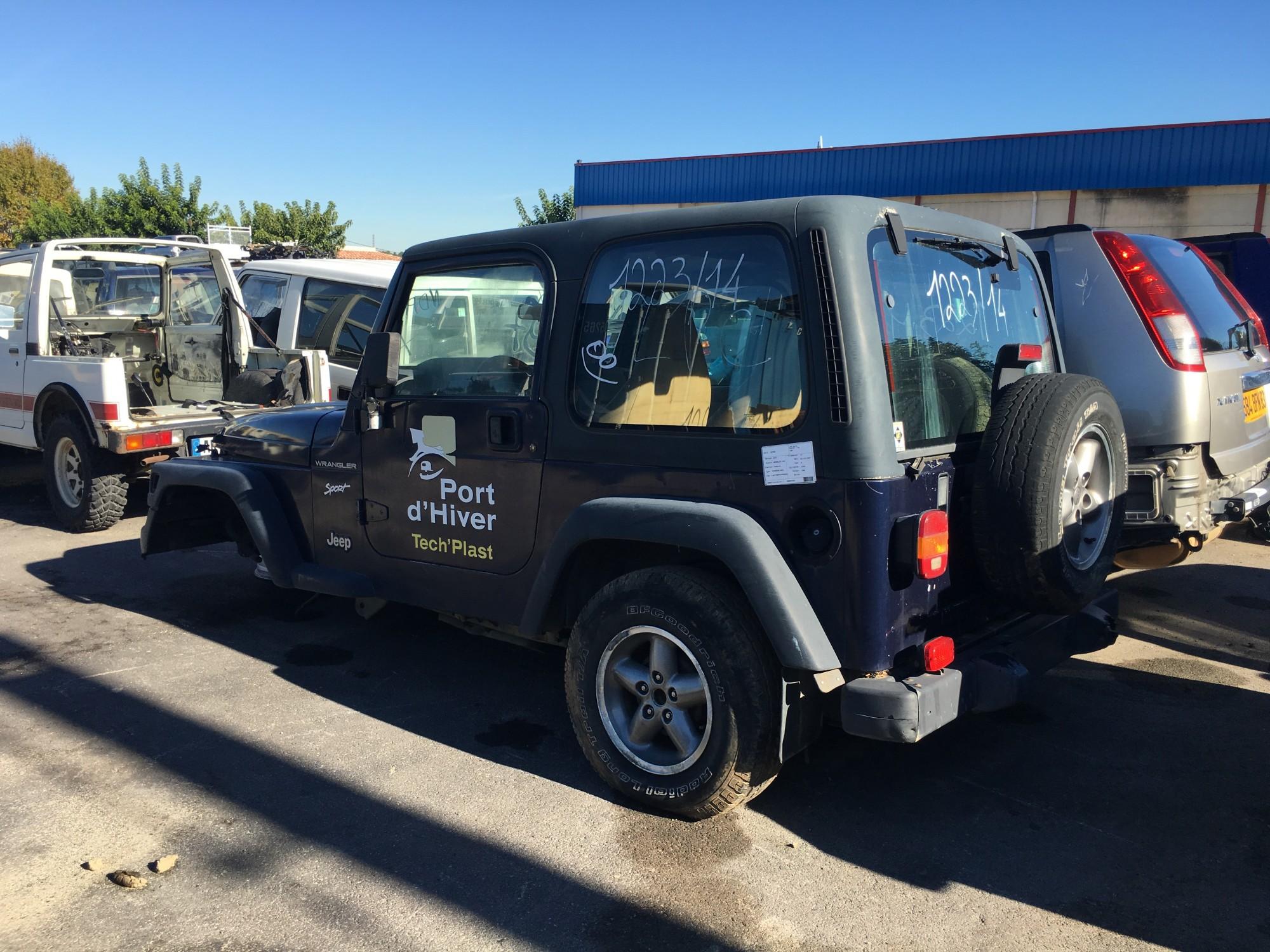pi ces d tach es pour jeep wrangler 2 5 118 ch de 1997 4x4 occasion pro fun 4x4. Black Bedroom Furniture Sets. Home Design Ideas